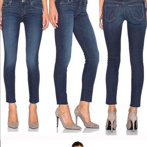 Mother Jeans High Waisted Looker Skinny Frayed F22